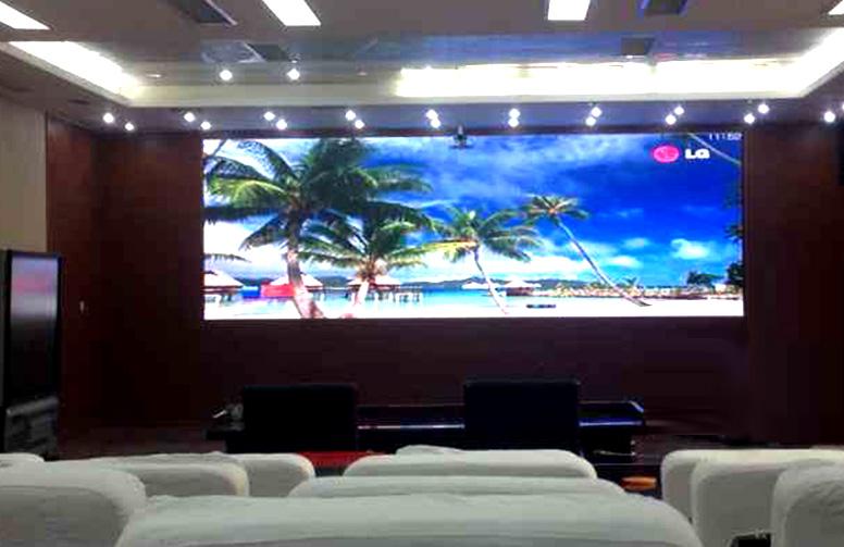 武警水电二总队视频会议室Q2.5全彩LED显示屏