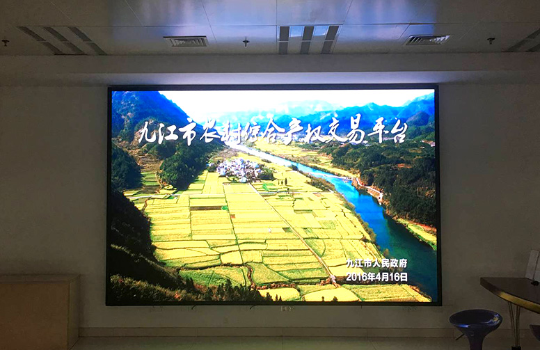 九江市八里湖政府大厅Q3全彩LED显示屏